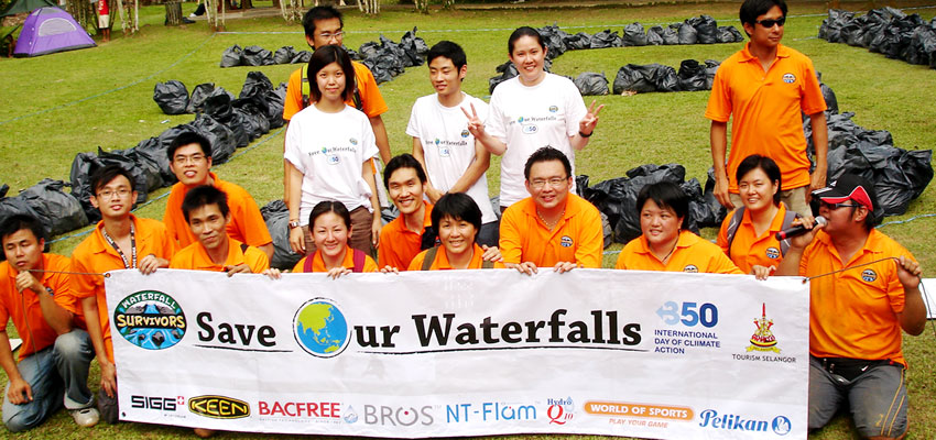 BROS Events- BROS & Waterfall Survivors Joins Global Day Of Climate Action To Spread Most Important Number In The World